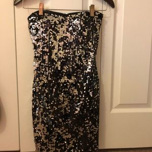 Nordstrom Black and Silver Sequin Homecoming Dress
